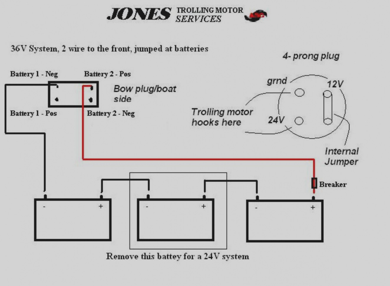 12v trolling motor wiring diagram Collection-Wonderful 24 Volt Trolling Motor Battery Wiring Diagram 3 Prong Wire Diagrams Schematics 5-a