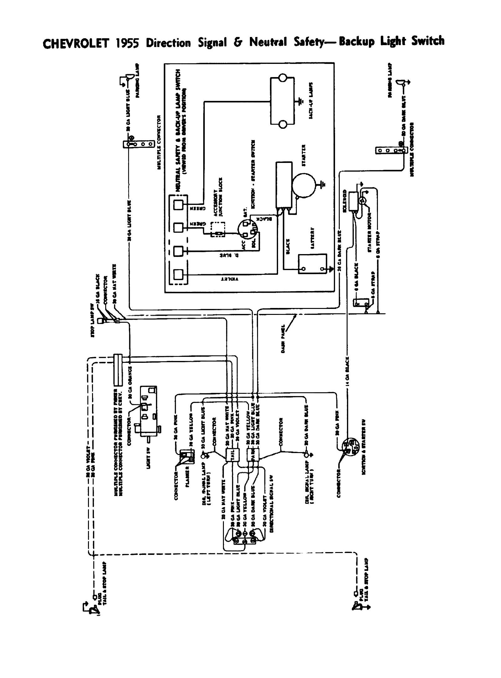 1955 chevy turn signal wiring diagram Download-1955 Directional Signals Neutral Safety & Backup Switches 9-p