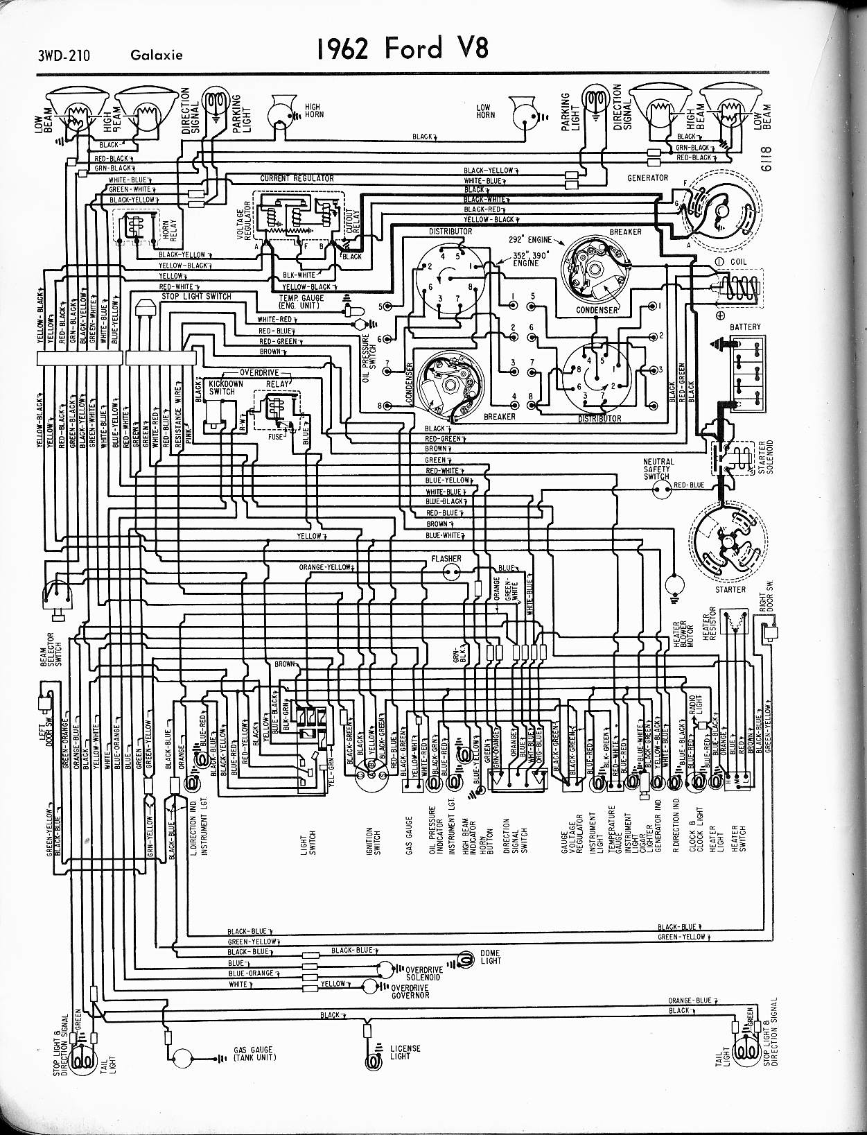 1965 mustang ignition switch wiring diagram Collection-1962 Thunderbird 2-h