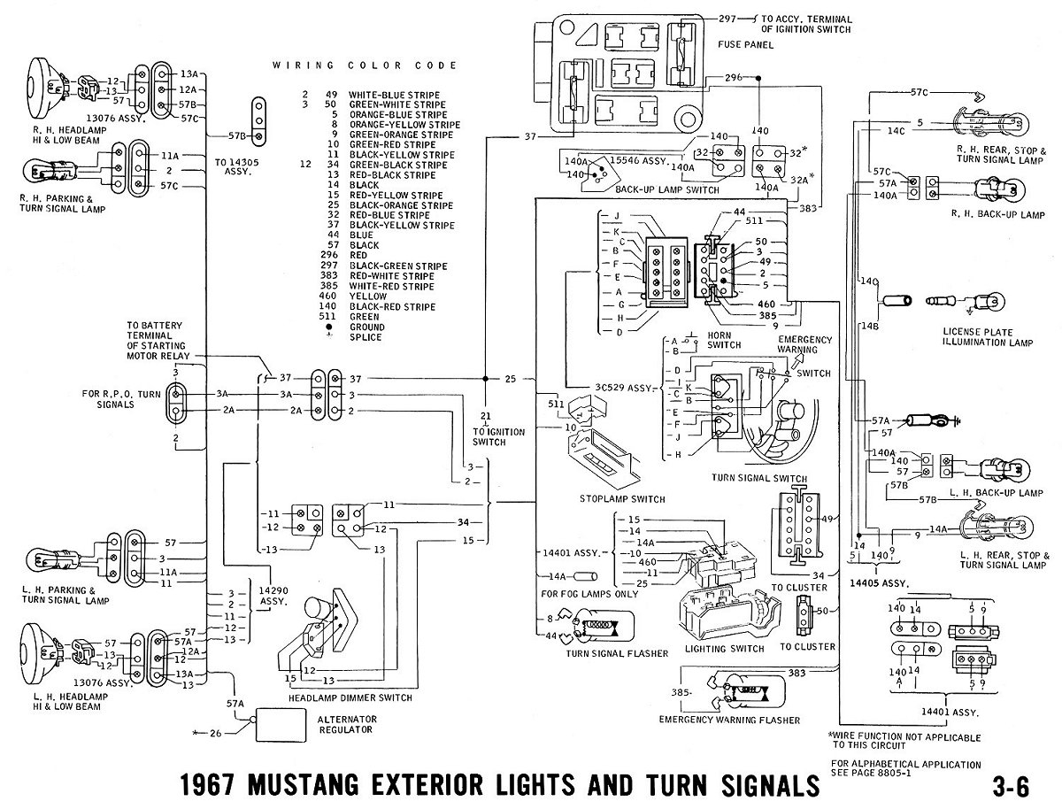 1967 mustang alternator wiring diagram Download-1967 mustang wiring and vacuum diagrams average joe restoration rh averagejoerestoration 1967 ford mustang headlight wiring diagram 1967 mustang 4-p
