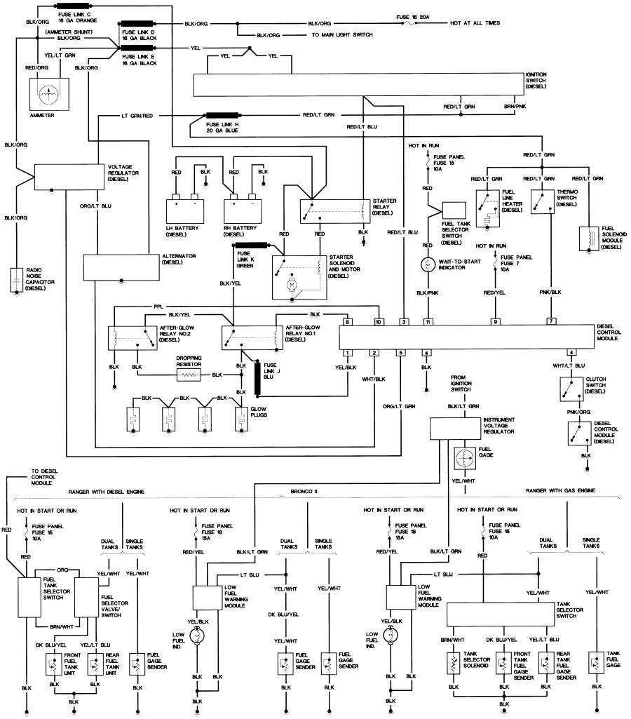 1989 ford f150 ignition wiring diagram Collection-Bronco II Wiring Diagrams 6-j
