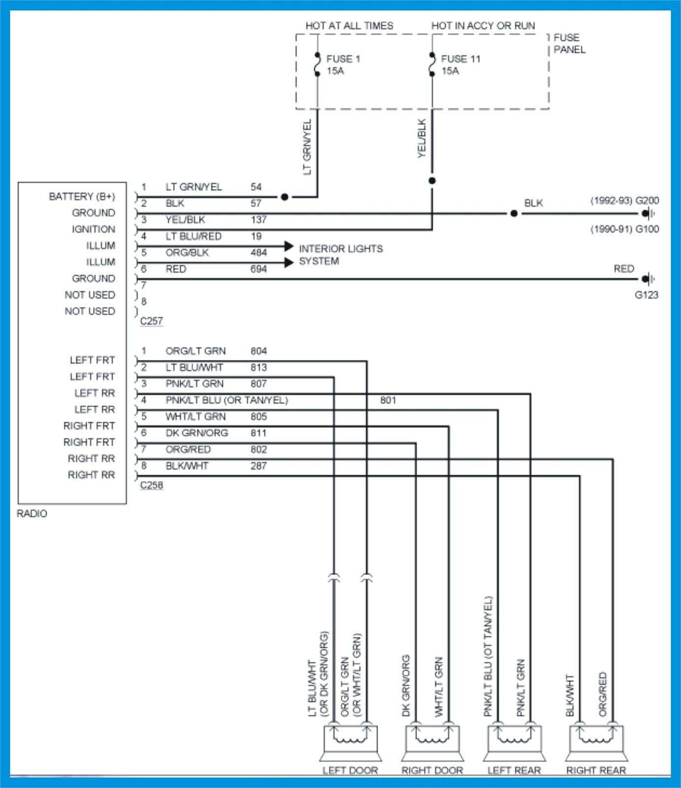 1990 mustang radio wiring diagram Collection-2008 Ford Ranger Radio Wiring Diagram New 1993 Stereo 4 17-q