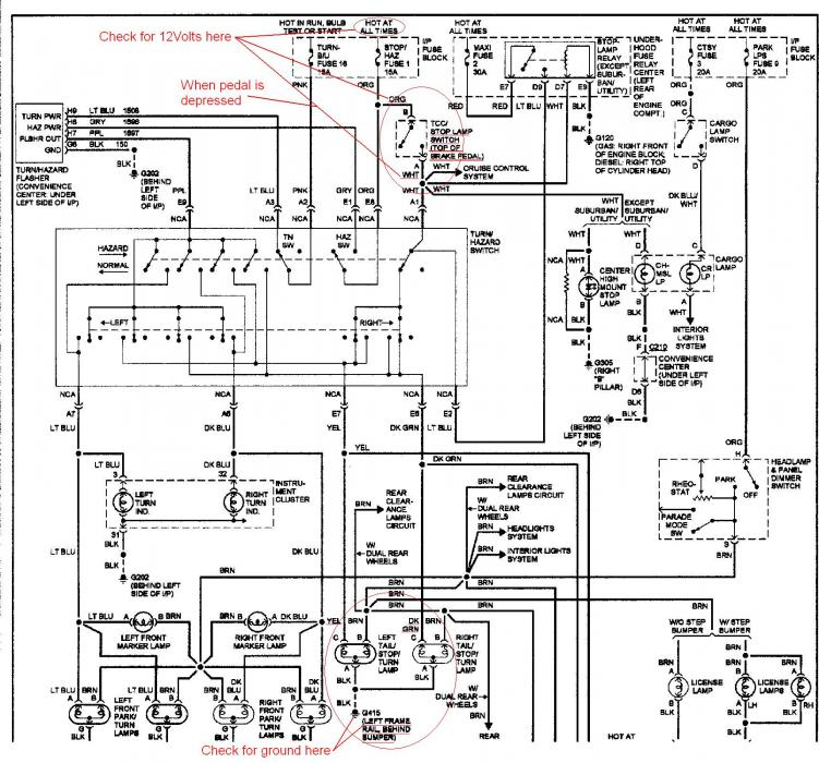 1994 chevy truck brake light wiring diagram collection