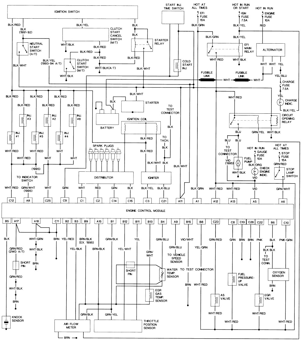 1995 toyota camry wiring diagram sample
