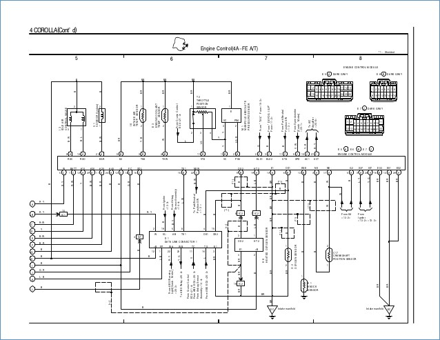 1995 toyota camry wiring diagram Collection-C toyota coralla 1996 wiring diagram overall 6-m