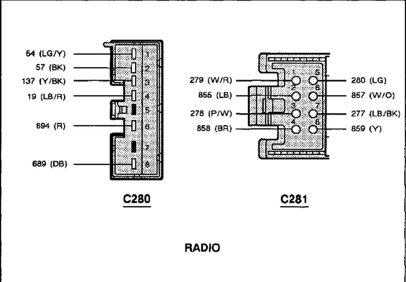 1999 ford mustang radio wiring diagram sample