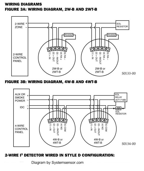 2 Wire Smoke Detector Wiring Diagram Gallery Wiring