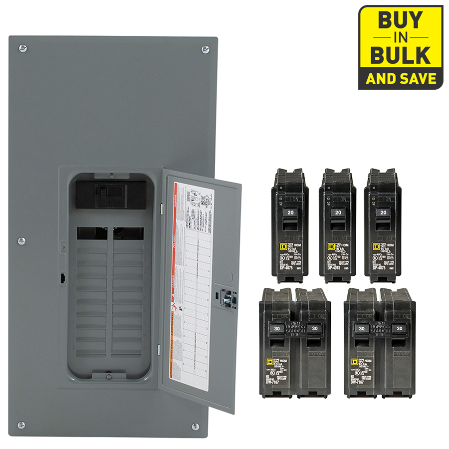 200 amp square d panel wiring diagram Collection-Square D 40 Circuit 20 Space 200 Amp Main Breaker Plug 7-h