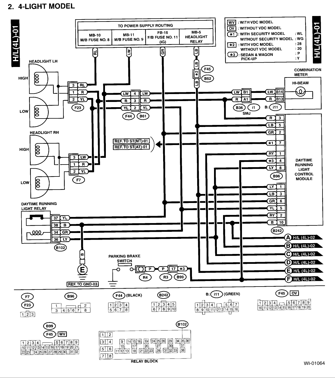 2001 subaru outback radio wiring diagram gallery