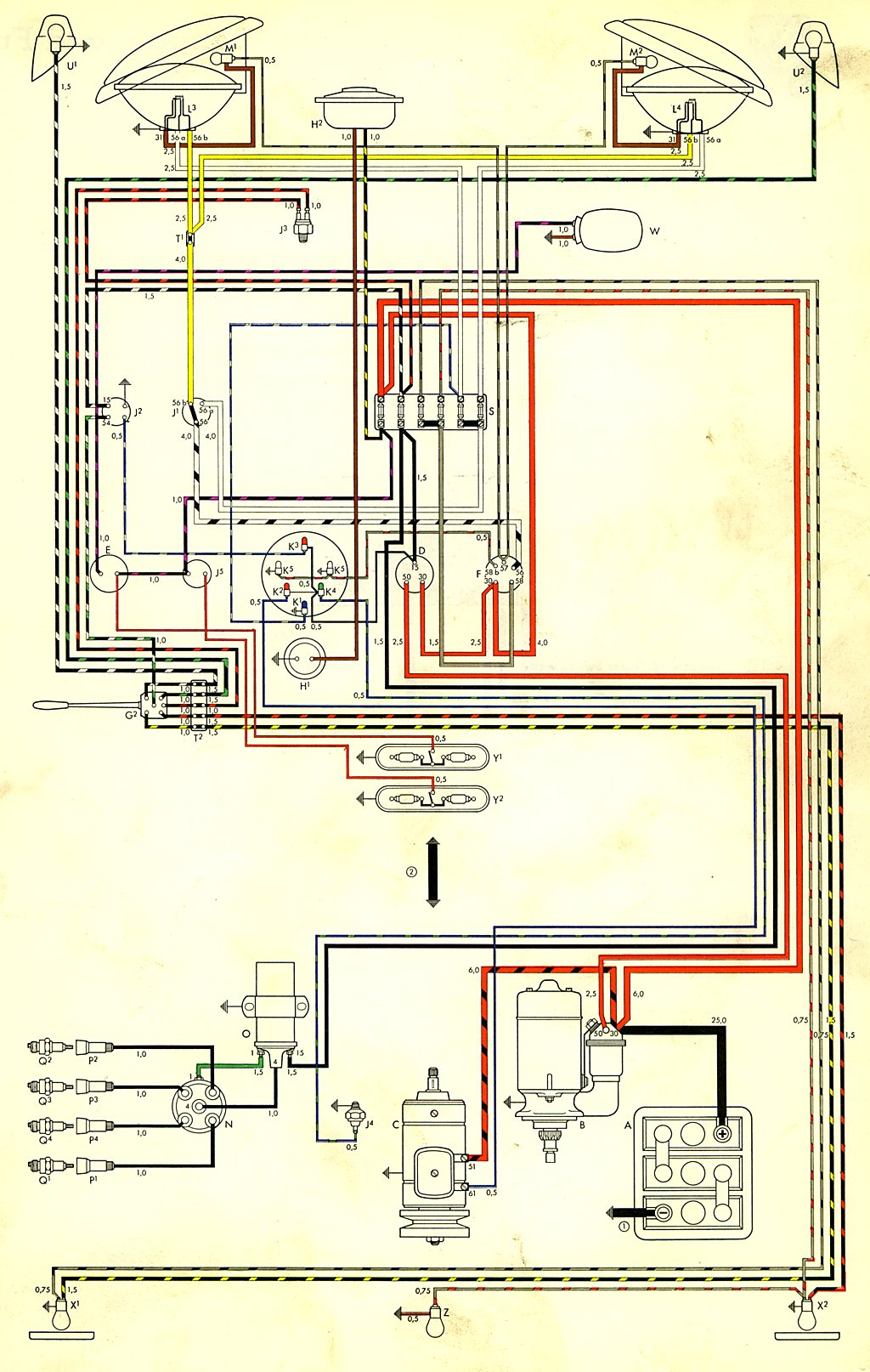2001 vw beetle wiring diagram Collection-bus 59 USA 7-h