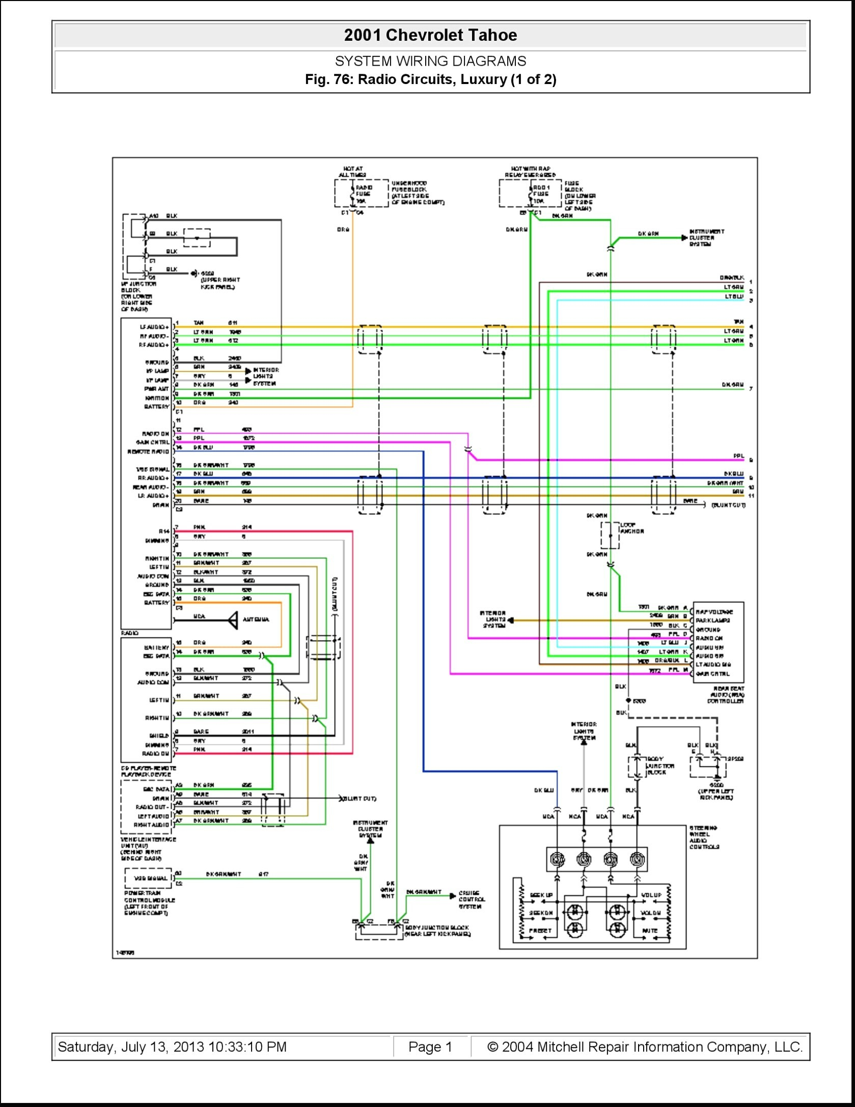 2002 chevy tahoe radio wiring diagram Collection-2004 Chevy Impala Radio Wiring Diagram originalstylophone 14-k