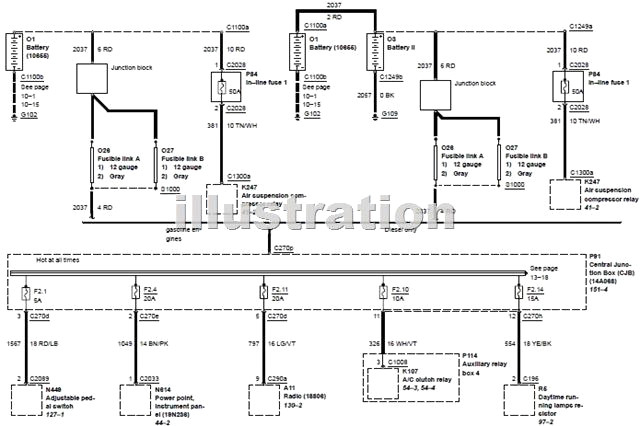 2002 ford excursion wiring diagram Collection-2002 Ford Excursion Power Distribution Wiring Diagram Circuit 18-p