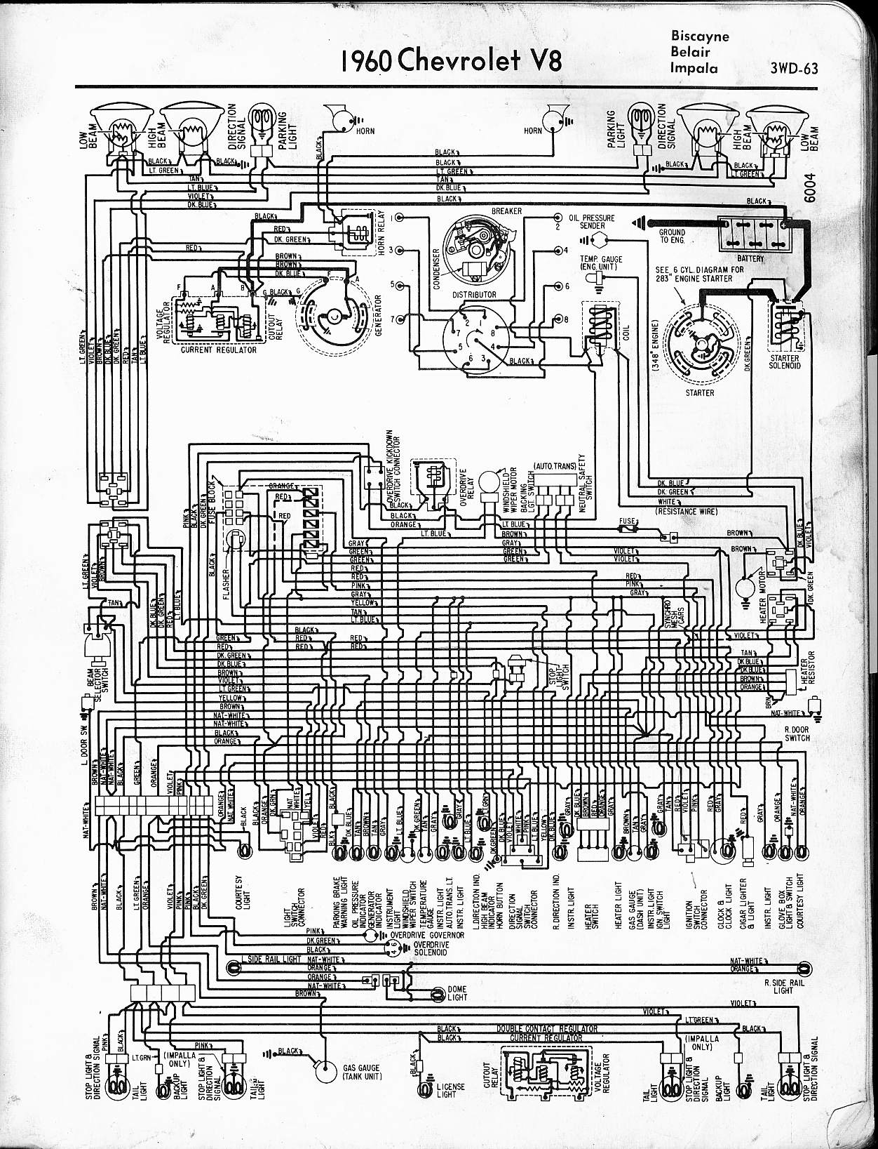 2005 chevy impala wiring diagram Collection-1960 V8 Biscayne Belair Impala 17-t