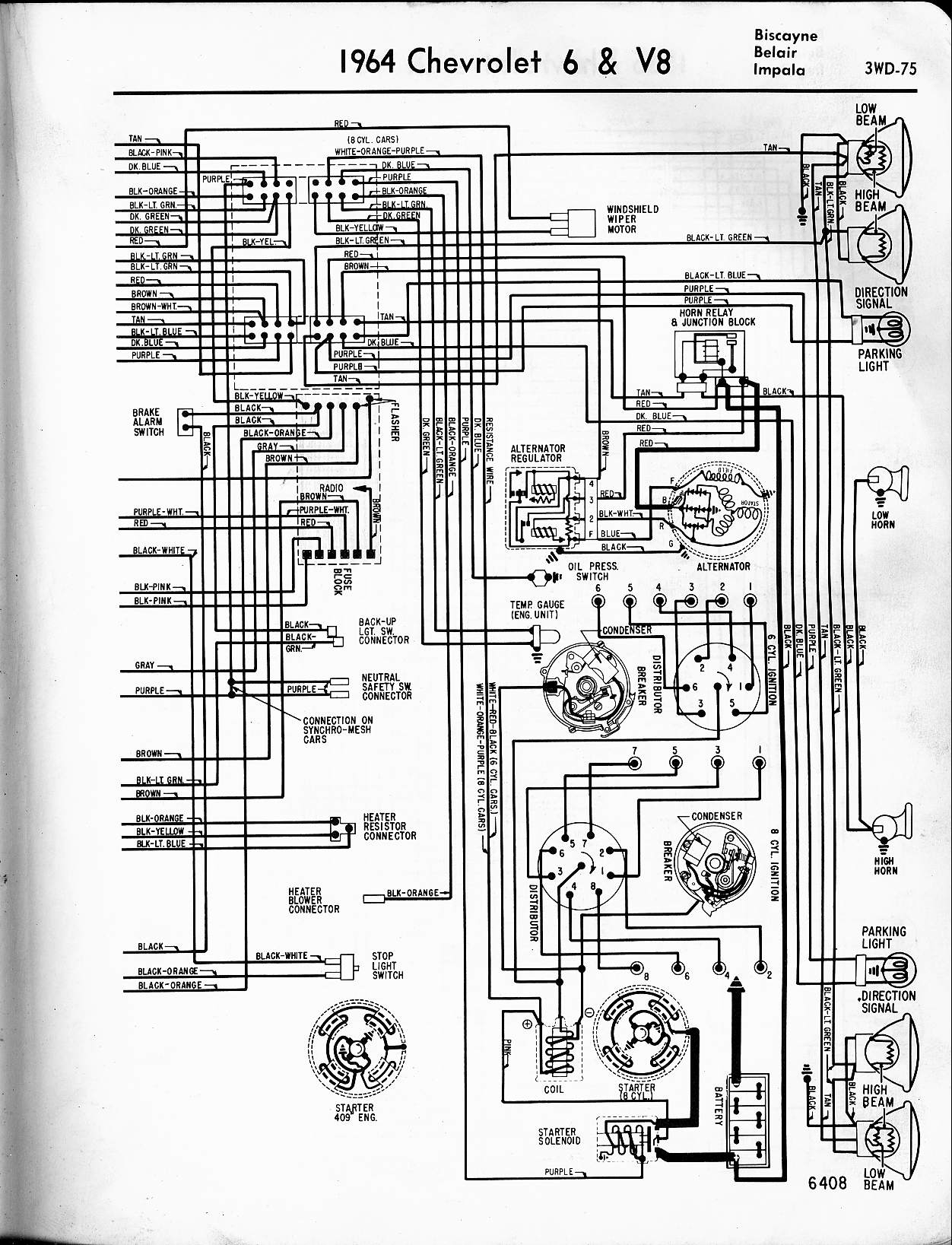2005 chevy impala wiring diagram Download-1964 6 & V8 Biscayne Belair Impala 7-t