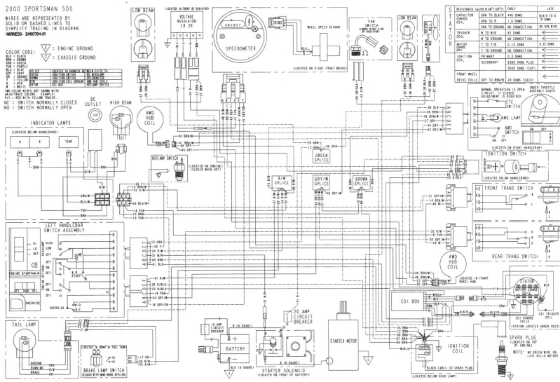 polaris sport 400 wiring diagram