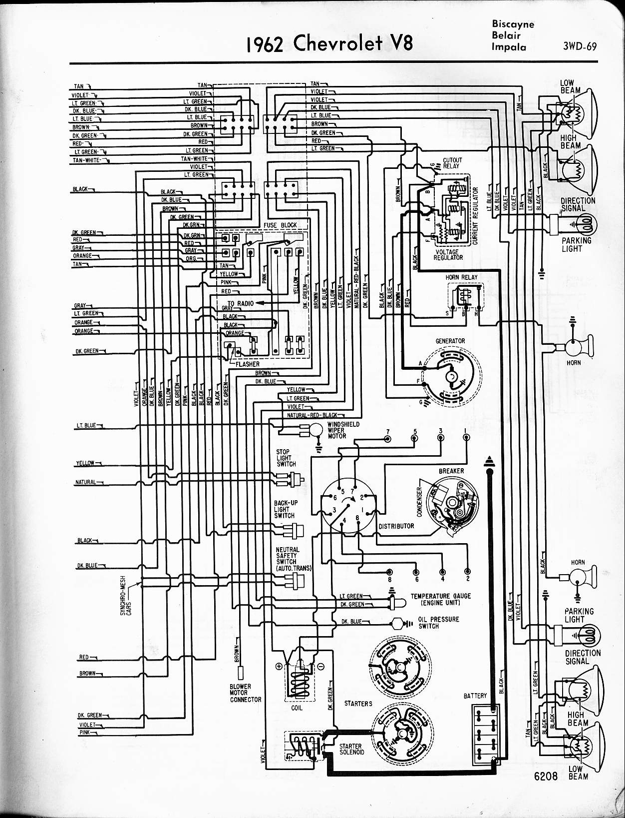 2006 chevy impala wiring diagram Collection-1962 V8 Biscayne Belair Impala right 2-l
