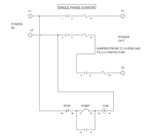 240v motor wiring diagram single phase Collection-Motor Contactor Wiring Diagram 17-h