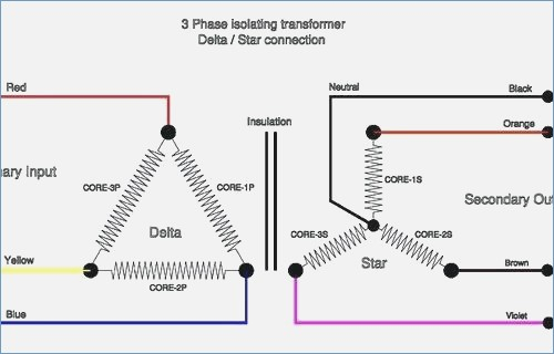 3 phase isolation transformer wiring diagram gallery