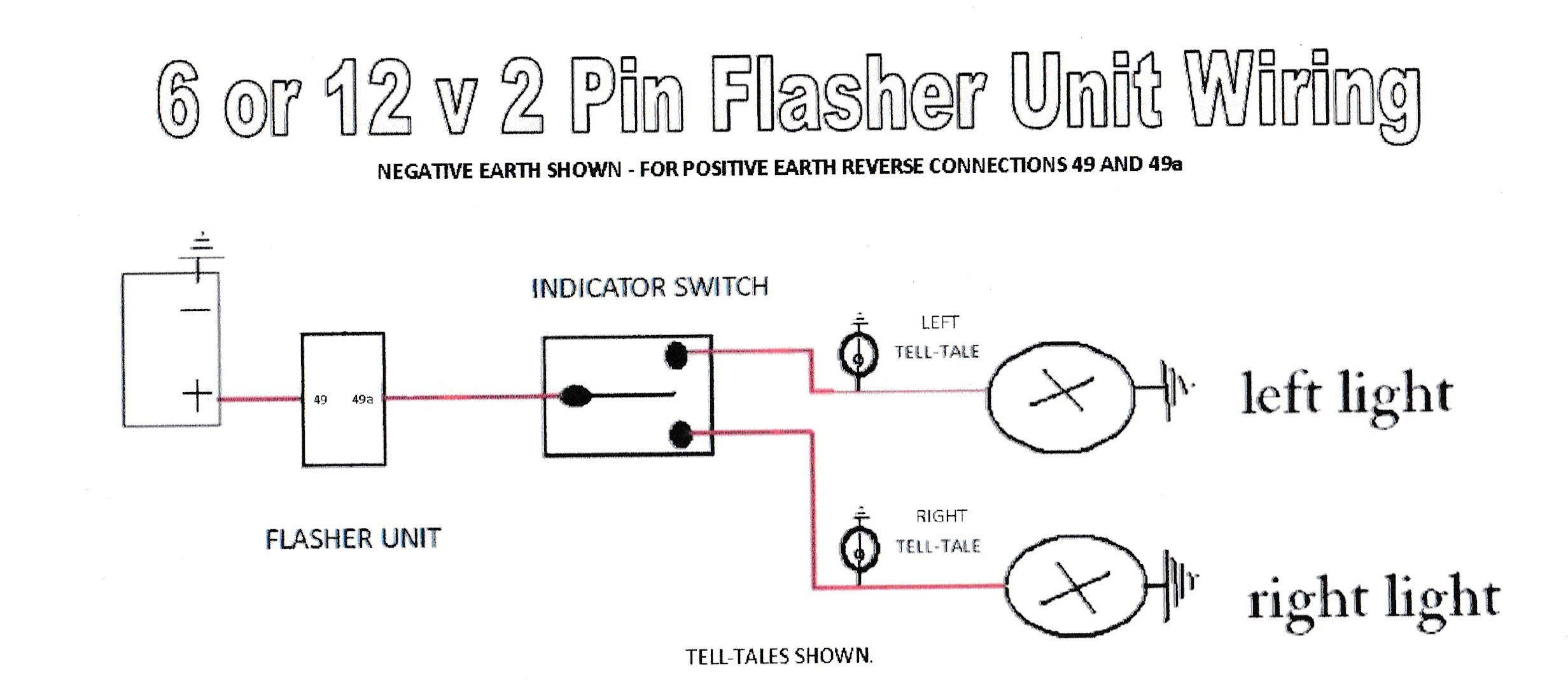 3 Pin Electronic Flasher Relay Wiring Diagram