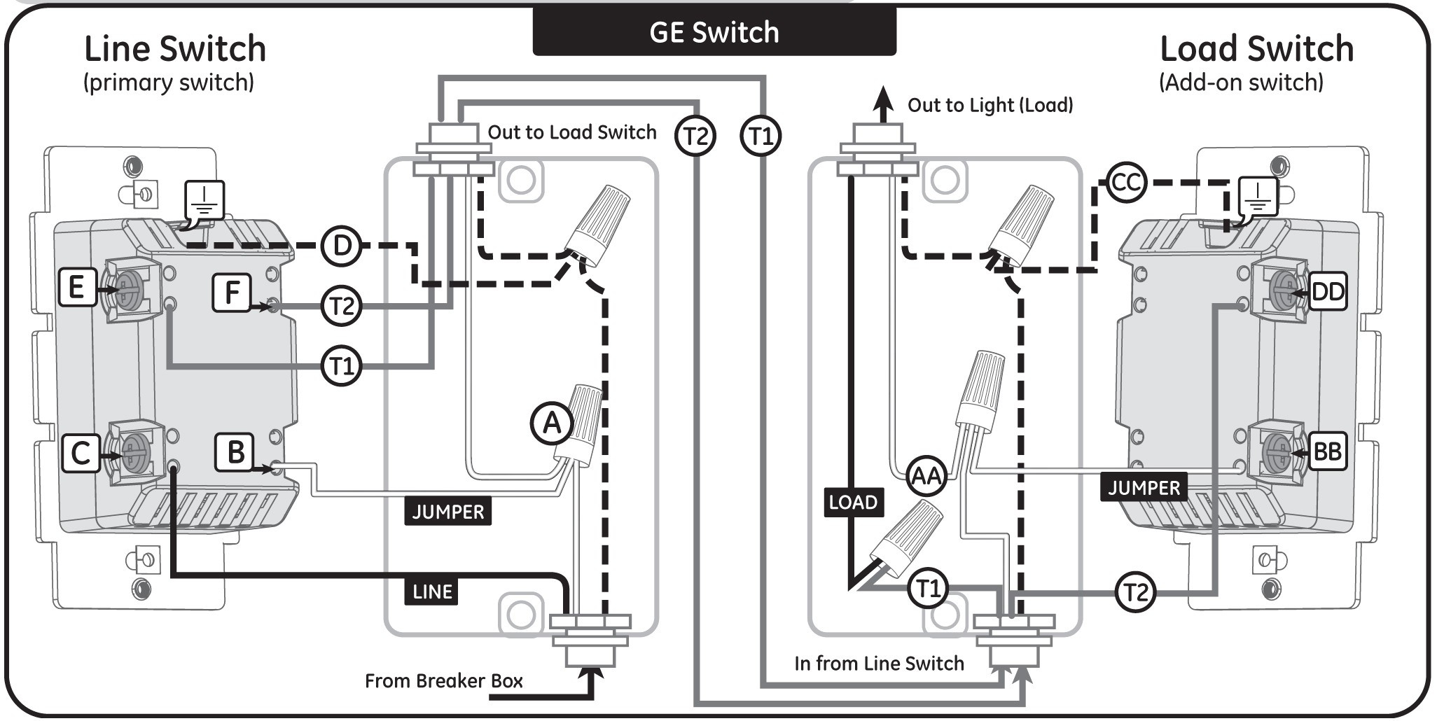 3 way switch wiring diagram light in middle collection