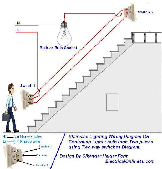 3 way switch wiring diagram pdf Collection-two way light switch diagram & Staircase Wiring Diagram 6-t