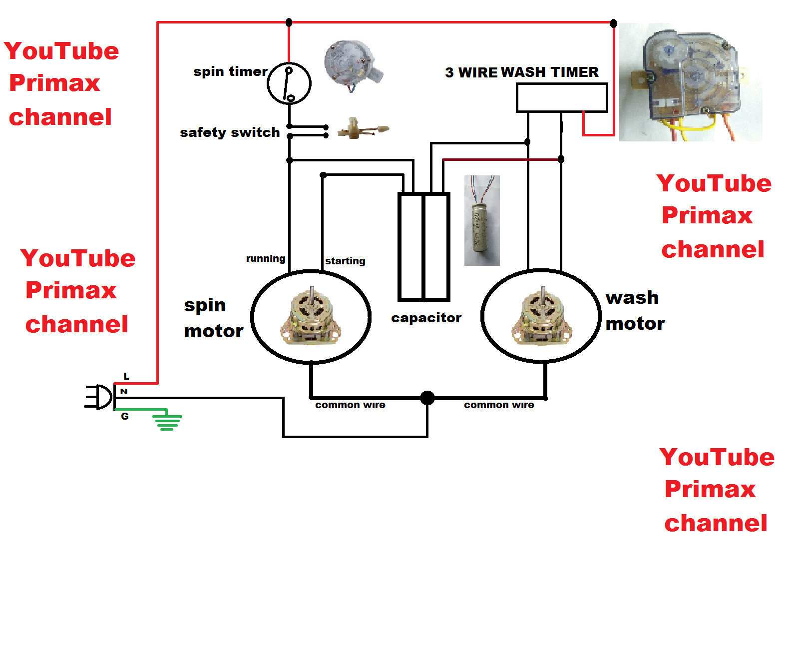 3 wire washing machine motor wiring diagram Download-Wiring Diagram for Washing Machine Fresh 3 Wier Timer Diagram Connection Simple Washing Machine Wiring 5-l