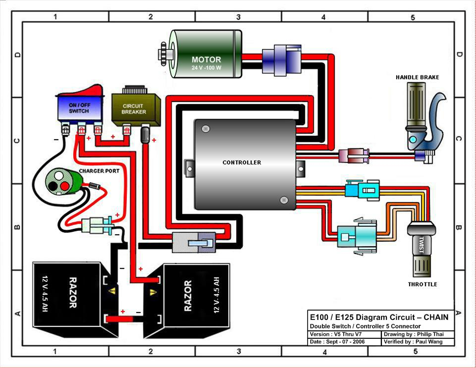 36 volt electric scooter wiring diagram Download-Razor Launch Wiring Diagram Version 5 7 13-g