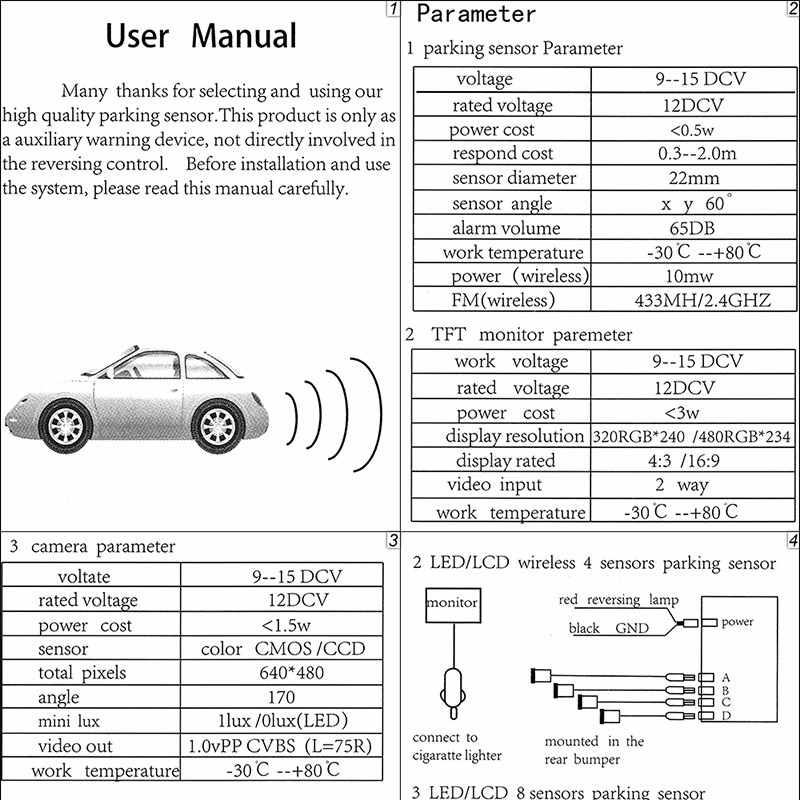 8 parking sensor wiring diagram Collection-aeProducttSubject 16-t