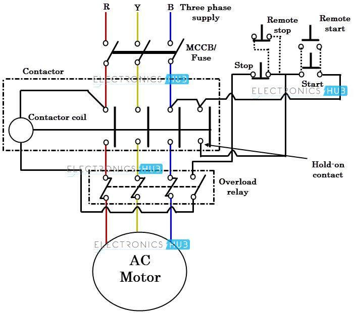 ac contactor wiring diagram sample