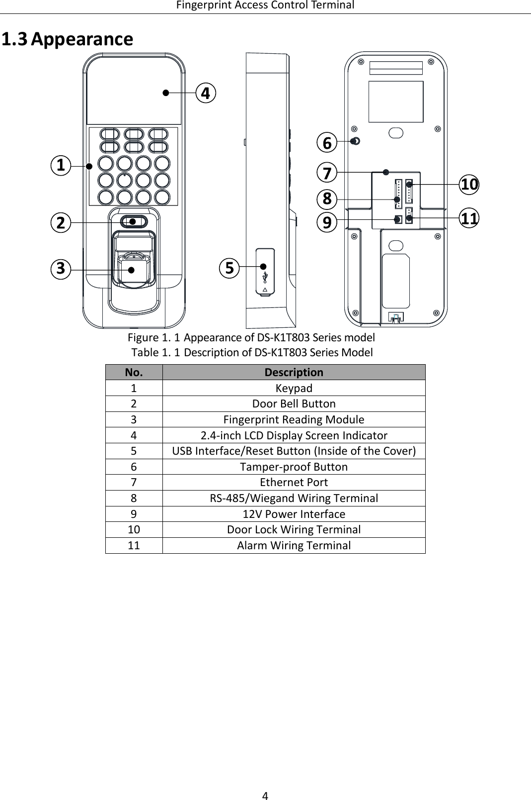 access control system wiring diagram Download-door access control wiring diagram Download Page 10 of K1T803MF Fingerprint Access Control Terminal User 10-m