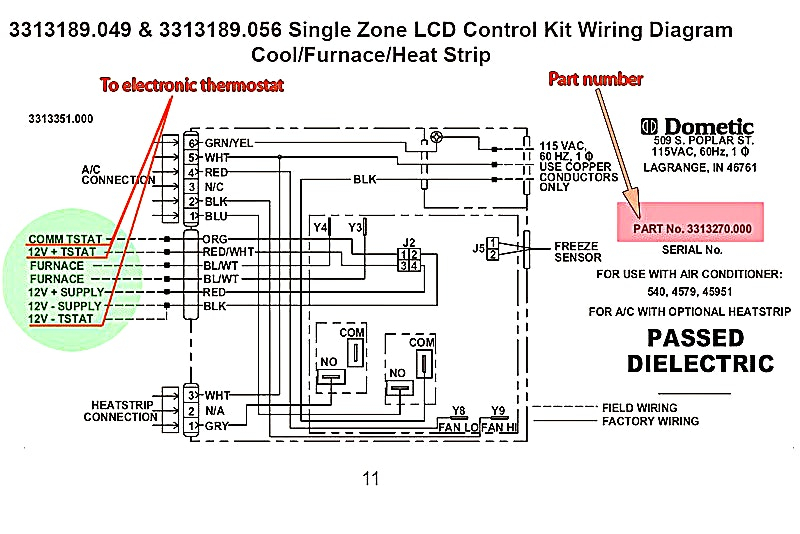air conditioner thermostat wiring diagram Collection-air conditioner thermostat wiring diagram Collection Dometic Thermostat Wiring Diagram Enticing Model Duo Therm For 2-i