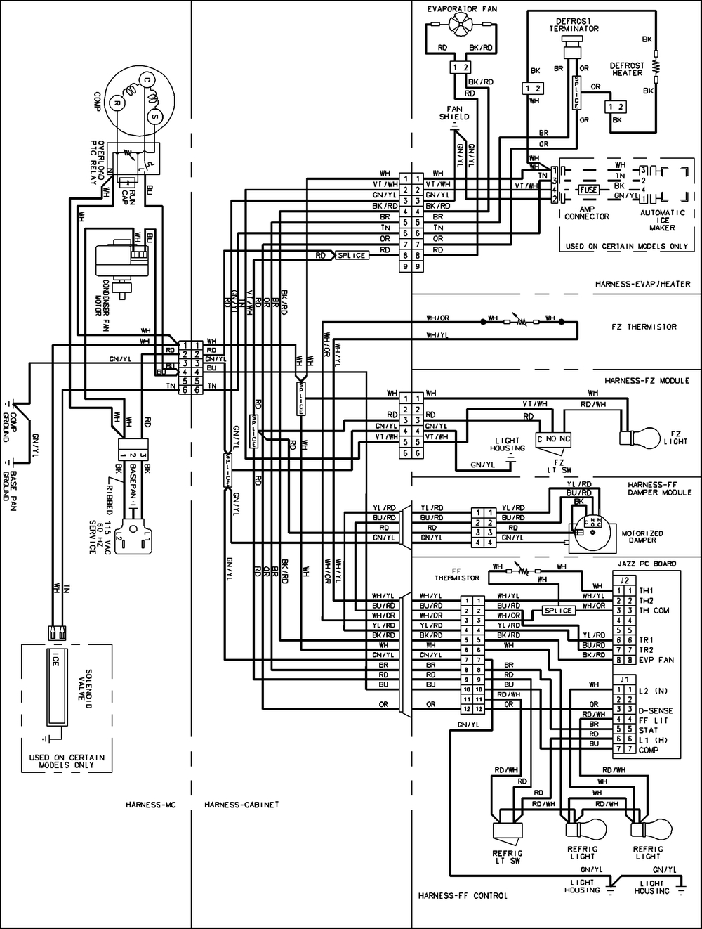 amana ptac wiring diagram Collection-Amana Refrigerator Wiring Diagram Teamninjaz Me And 1-k