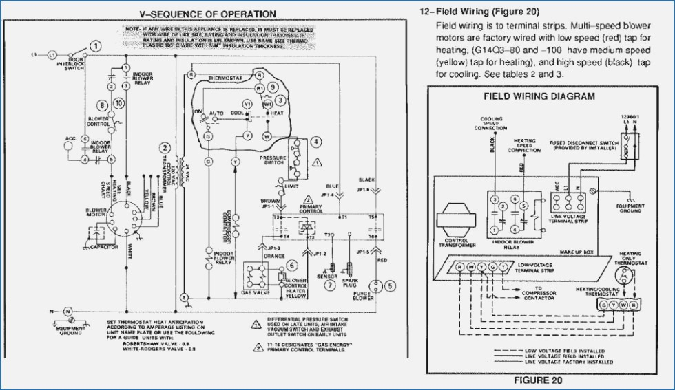 american standard furnace wiring diagram Download-Unusual Wiring Diagram Older Furnace Gallery Electrical Wiring 7-j