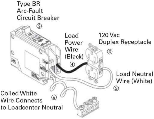 arc fault breaker wiring diagram gallery