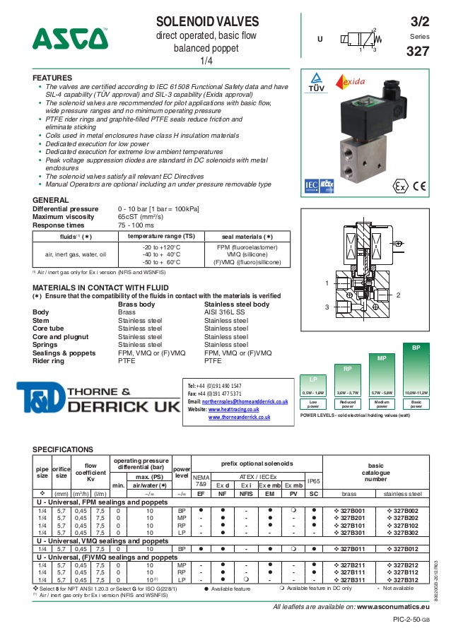 asco solenoid valve wiring diagram Download-asco atex solenoid valves 327 series spec sheet 1 638 1-q