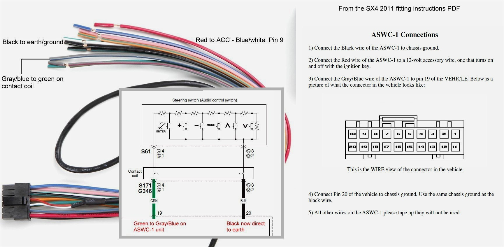 aswc 1 wiring diagram Collection-Gmos Lan Wiring Diagramxxess Metra Harnessswc Within With 04 Diagram 4-f