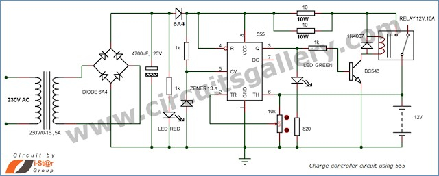 automatic charging relay wiring diagram Download-12v Battery Charger Circuit with Auto Cut f Gallery 19-a