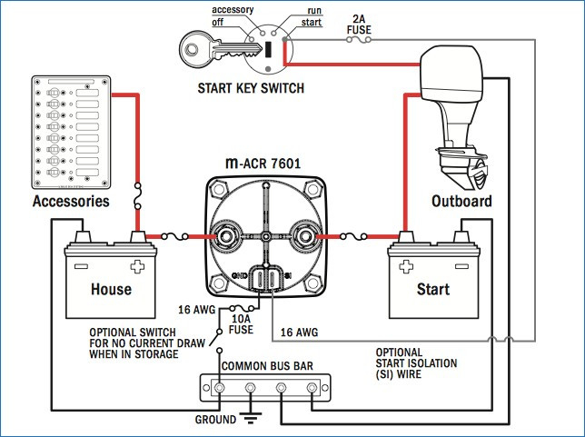 automatic charging relay wiring diagram Collection-Blue Sea Battery Switch Diagram Unique Blue Sea Wiring Diagram – Bestharleylinksfo 7-j