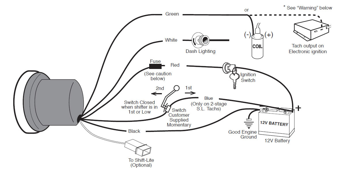 autometer tach wiring diagram Collection-Auto Meter Wiring Diagram 18-f