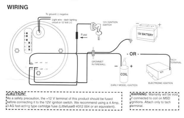 """autometer tach wiring diagram Collection-Autometer Tach Wiring Diagram Beautiful Tach Wiring Diagram & """"&quot 11-t"""