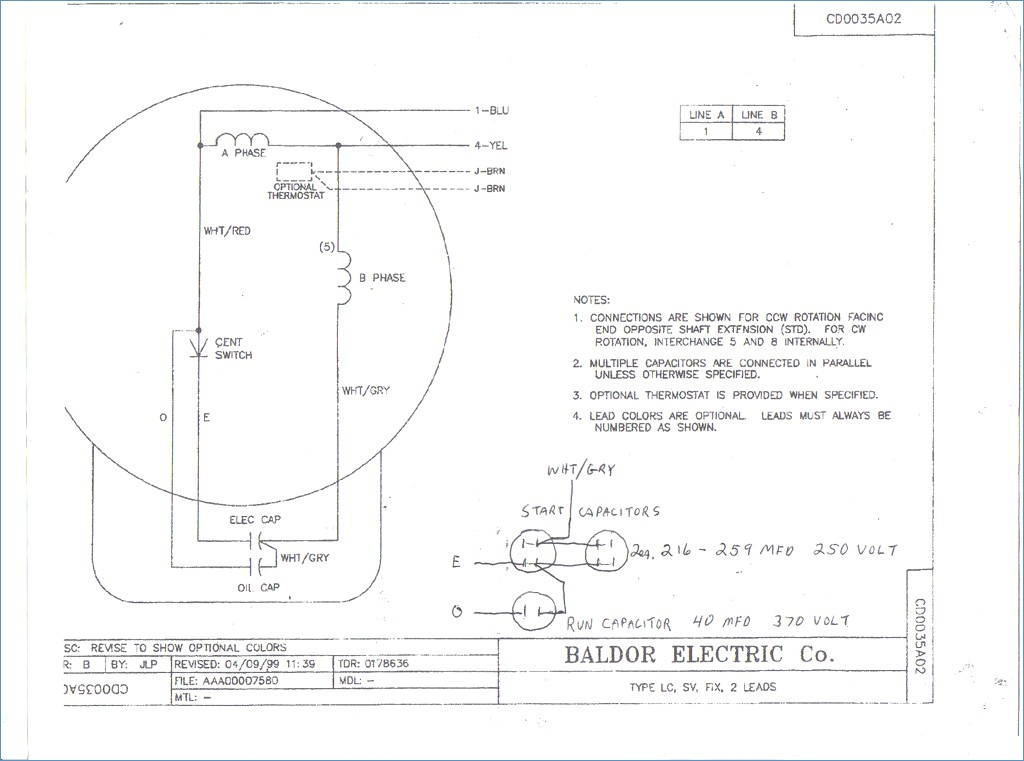 baldor motor capacitor wiring diagram Download-Baldor Motor Wiring Diagrams 3 Phase – Wire Diagram 18-k