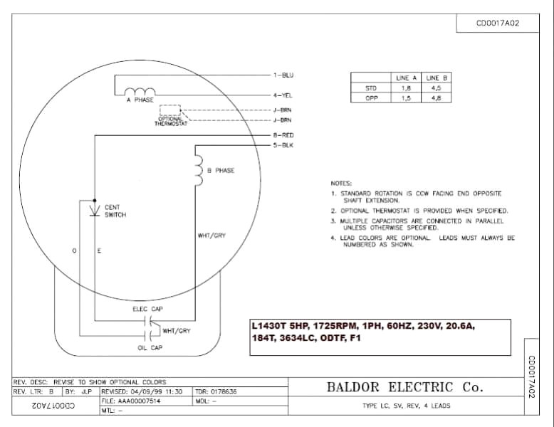 baldor single phase 230v motor wiring diagram Collection-Baldor Motor Wiring S Single Phase Ripping Electric Motors 19-s