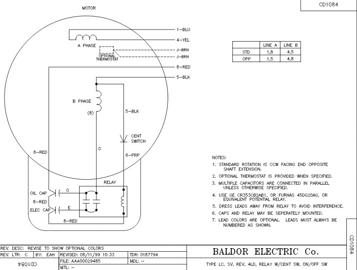 baldor single phase 230v motor wiring diagram Collection-Connection Diagram 17-t