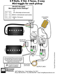 bass wiring diagram 2 volume 2 tone Collection-Seymour Duncan P Rails wiring diagram 2 P Rails 2 Vol 17-r