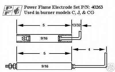 belimo lrb24 3 wiring diagram Download-Crown Power Flame Gas Electrode And Flame Rod Kit For C J CG 4-p