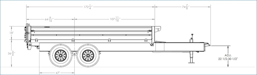 big tex dump trailer wiring diagram Collection-Big Tex Trailers 14od Gn Over the Axle Dump 18-s