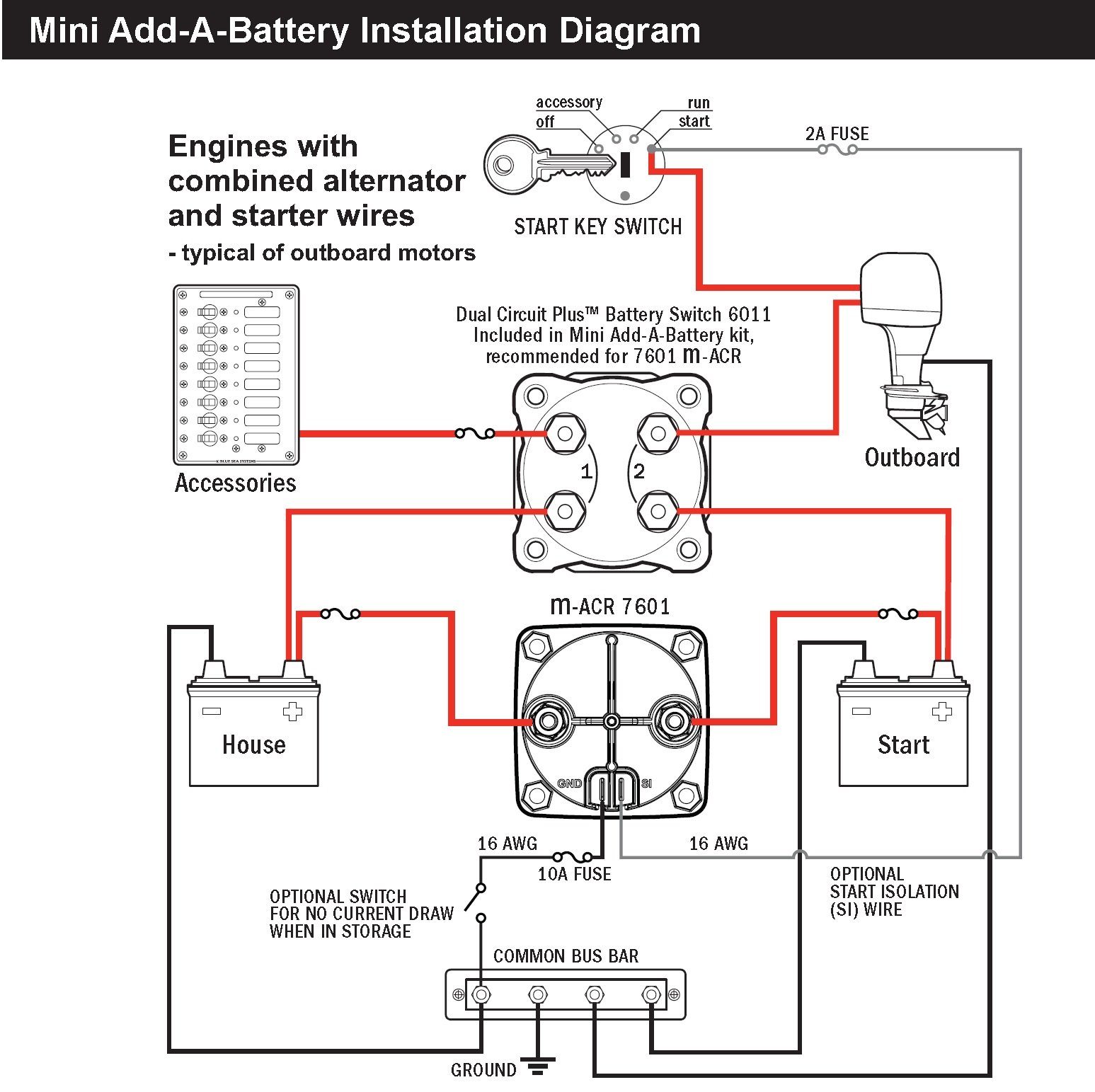 blue sea dual battery switch wiring diagram Collection-Sure Power Battery isolator Wiring Diagram Awesome Blue Sea 7601 Marine Vsr Acr Automatic Charge Relay 20-r