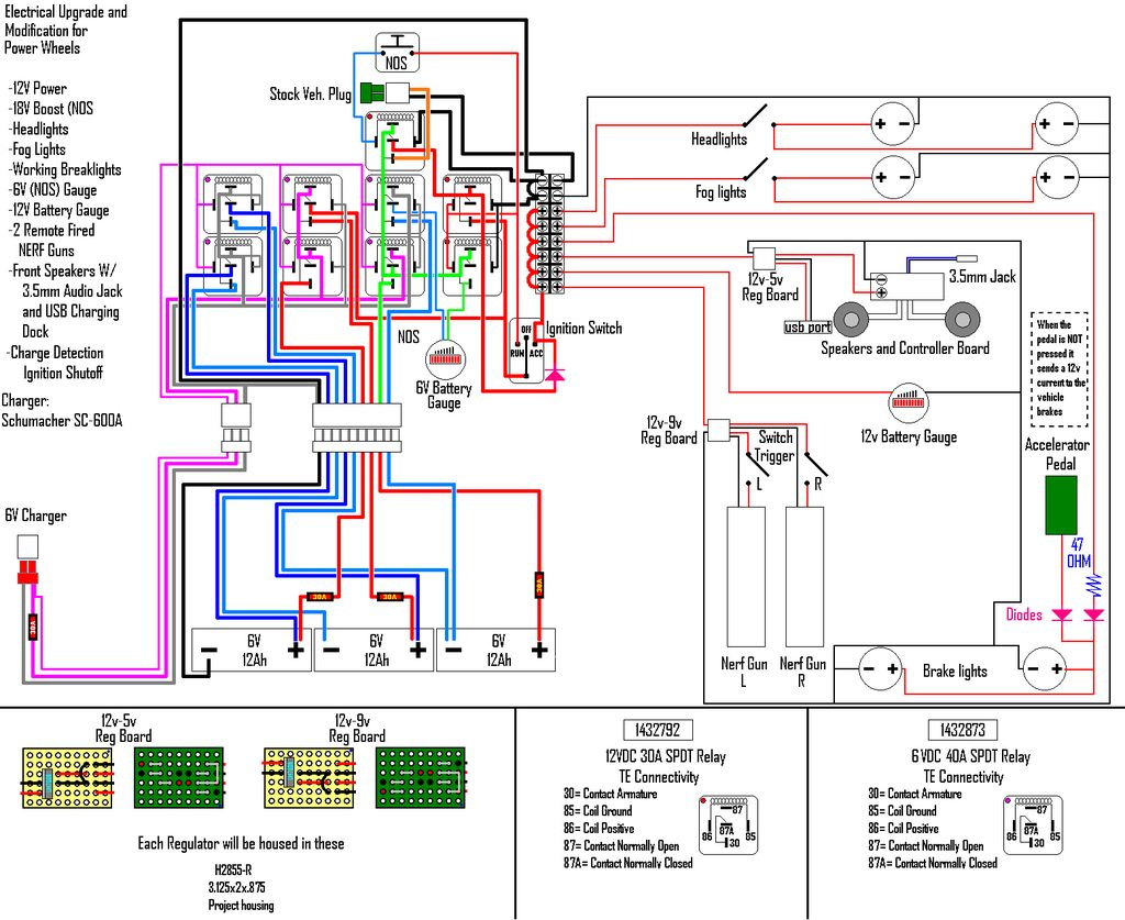 boat dock wiring diagram Download-3 11 13 spdt relays B 2-n