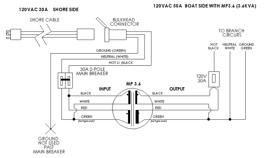 boat dock wiring diagram Download-Marine Puck Schematic 3 6kVA 9-d