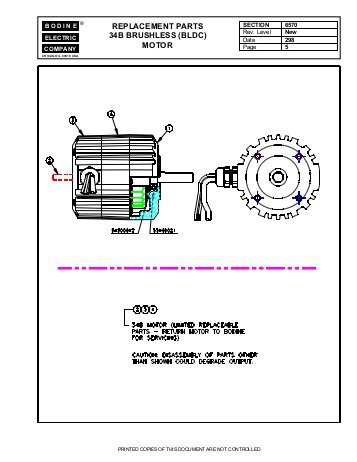 bodine electric dc motor wiring diagram Download-replacement parts 34b brushless bldc motor Bodine Electric 16-i